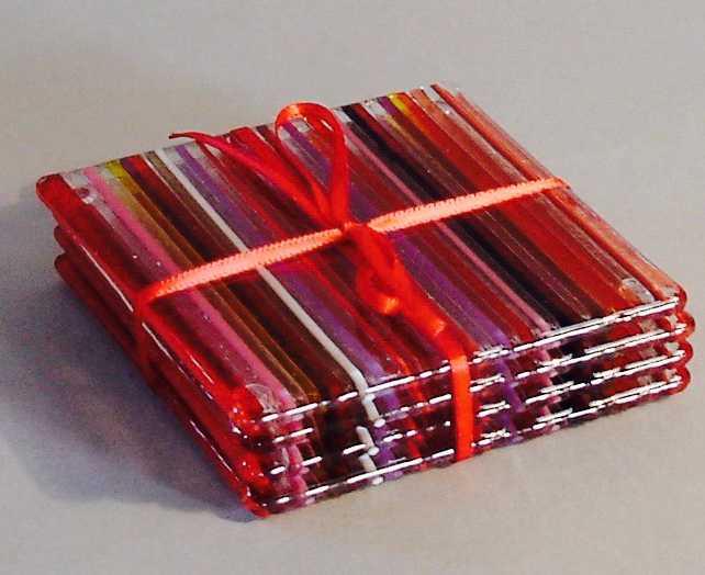 Sets of Coasters in red